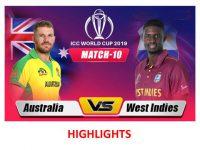 Australia vs West Indies | ICC Cricket World Cup 2019 - Match Highlights